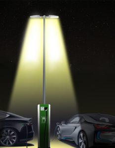 Laadpunt Duo met lichtmast